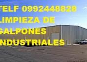 Telf 2428098 limpieza general de galpones y bodegas