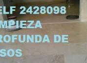 Telf 2428098 limpieza general de pisos de hormigon con maquinaria