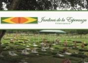 Por tu familia. super oferta lote jardines de la esperanza doble mas servicio funerario