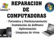 Servicio tecnico  dee computadoras y laptops