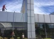 Limpieza profesional de fachadas en altura, obra civil, mtto edificios