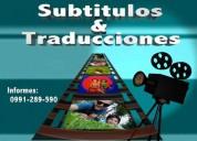 Traducción, subtitulación y edición de videos
