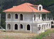 Vendo propiedad de 5.200 m2 con villa estilo europeo por terminar en pampa crespo, javier loyola