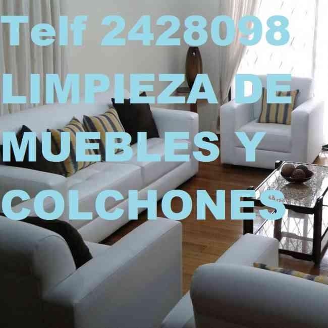 Telf 2428098 REALIZAMOS LIMPIEZA DESINFECCION DE COLCHONES SOMos