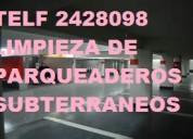 Telf 0981941777 lavamos pisos en parqueaderos y estacionamientos