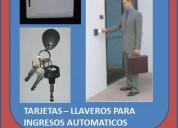 Tarjetas y llaveros para puertas automaticas