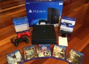 Playstation 4 pro 1tb con 5 juegos