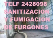 Servicio de sanitacion y desinfeccion de furgones llamenos 022428098