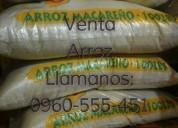 Venta de arroz macareño 0960-555-451 whatsapp
