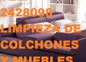 Telf 2428098 limpieza profunda de muebles de sala y  colchones