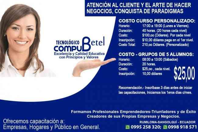En Compu Betel te enseñamos como atender al cliente y negociar
