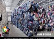 Venta de relleno textil