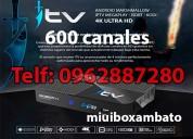 Tv satelital ambato mas de 600 canales hd
