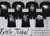 Camisetas estilo tribal