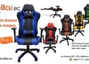 sillas ergonómicas para juegos