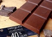 Chocolate artesanal de 40% a 100% cacao