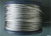 Cable de acero plastificado para instalaciÓn de canchas deportivas
