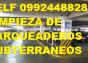 Telf 2428098 limpieza de parqueaderos subterraneos y externos