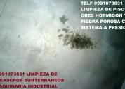 Telf 2428098 limpieza de pisos de hormigon para estacionamientos