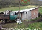 Se vende una hacienda via al  nevado cayambe
