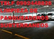 Telf 2428098 lavamos parqueaderos subterraneos con maquinaria
