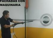 Telf 0987058464 limpieza de fachadas con maquinaria a presiÓn