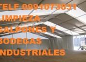 Telf 0991073831 limpieza de galpones y bodegas con mÁquinas