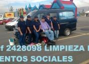 Telef 2428098 limpieza de eventos sociales