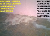 Telf 0987058464 limpieza profunda de parqueaderos