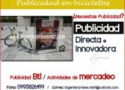 Publicidad en bicicletas - bicicleta publicitaria