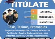 Tesis asesoría metodología proyectos titulate