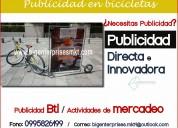 Publicidad móvil - publicidad en bicicletas