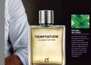 Perfume tentación de hombre yanbal