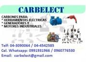 Carbones para generadores, motores, herramientas electricas, etc. - escobillas - ecuador
