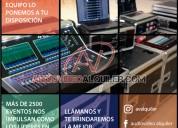 Alquiler de equipos audio visuales.