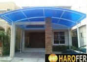 Cubierta de policarbonato harofer construcciones