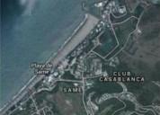 lote de terreno de 1 same frente al mar junto a casa blanca 1100 m2