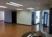 Excelente oficina de 345 m2 en piso alto cerca al hotel marriot en quito