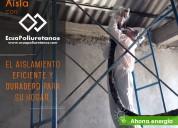 Espuma de poliuretano en viviendas roseado ecuador