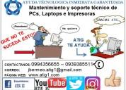 mantenimiento de pcs, laptops e impresoras