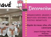 Organización de eventos, servicio de buffets, cate