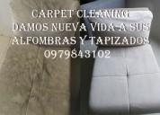 Lavado de alfombras y muebles 0979843102