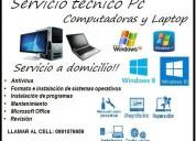 Servicio de reparacion de pc y laptop