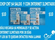 Chip cnt internet ilimitado