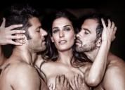 Trios con show lesbico y masaje incluido