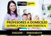 profesores a domicilio matemática física química