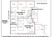 Vendo area de 140,5 m2 en el batan para oficinas o