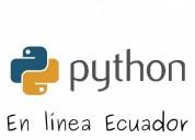 Curso de python a distancia en todo ecuador