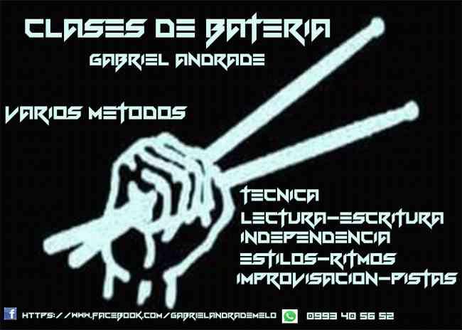 CLASES DE BATERÍA: TÉCNICA, LECTURA, INDEPENDENCIA, IMPROVISACIÓN, PISTAS