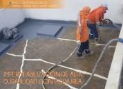 Proyección de polyurea ecuapoliuretanos